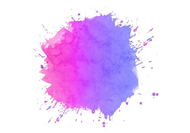 Kleurrijke abstracte aquarel vlek