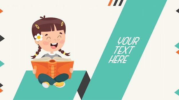 Kleurrijke abstracte banner voor kinderen onderwijs