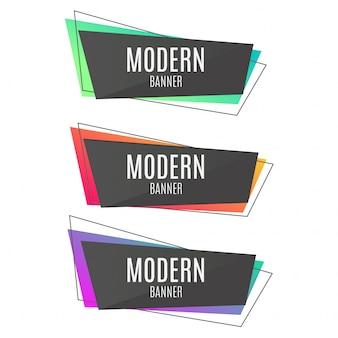 Kleurrijke abstracte banners