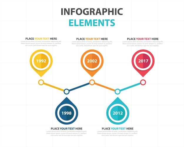 Kleurrijke abstracte business infographic template
