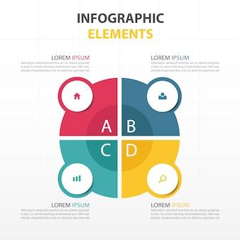 Kleurrijke abstracte cirkel bedrijf infographic template