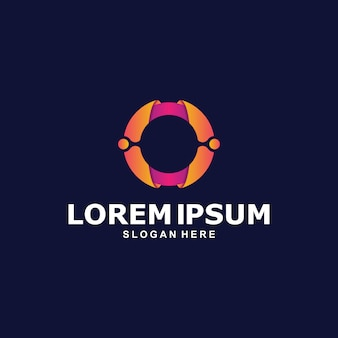 Kleurrijke abstracte cirkel logo sjabloon