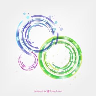 Kleurrijke abstracte cirkels