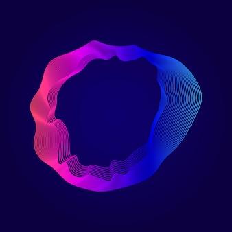 Kleurrijke abstracte contourlijnen illustratie