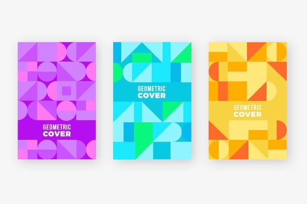 Kleurrijke abstracte geometrische cover-collectie
