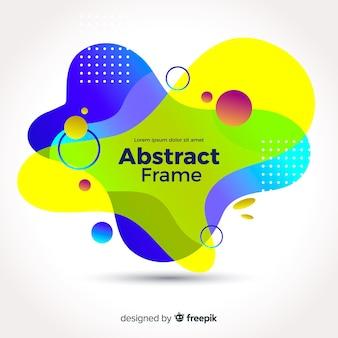 Kleurrijke abstracte golvende achtergrond