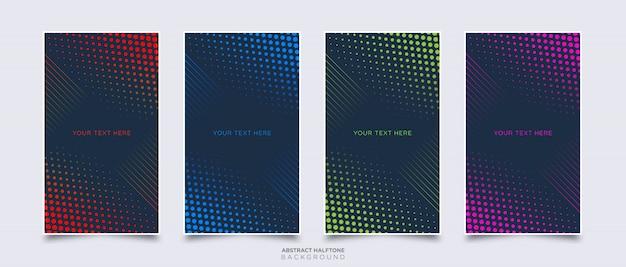 Kleurrijke abstracte halftone achtergrond sjabloon