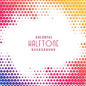 Kleurrijke abstracte halftone patroonachtergrond