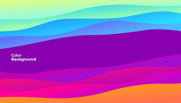Kleurrijke abstracte krommebanner.