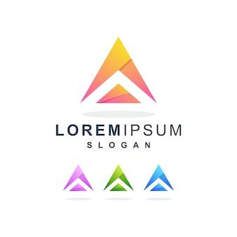Kleurrijke abstracte letter a logo premium