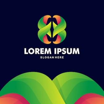Kleurrijke abstracte letter b logo premium