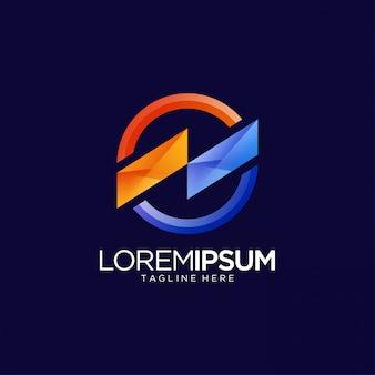 Kleurrijke abstracte levendige logo sjabloon