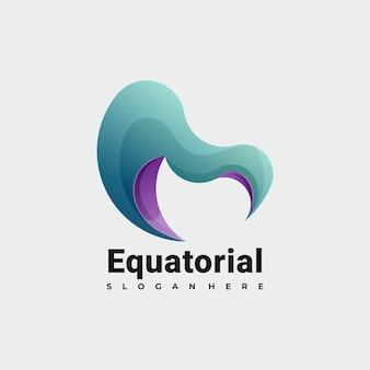 Kleurrijke abstracte logo illustratie vector sjabloon