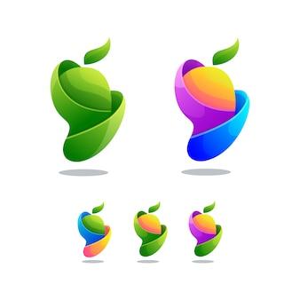 Kleurrijke abstracte mango