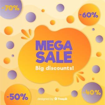Kleurrijke abstracte mega-verkoop achtergrond