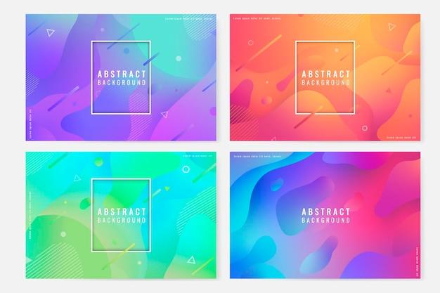 Kleurrijke abstracte naadloze patroon achtergrond set