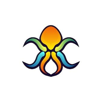 Kleurrijke abstracte octopus