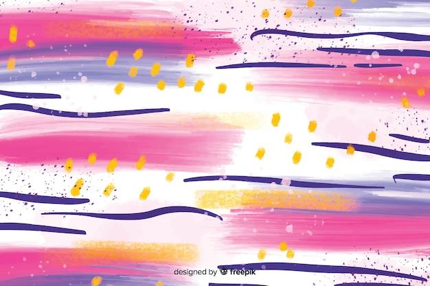 Kleurrijke abstracte penseelstrekenachtergrond