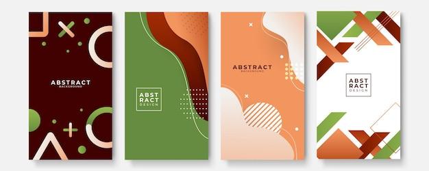 Kleurrijke abstracte sjablonen als achtergrond met geometrische dan-golfvormen. toekomstig geometrisch ontwerp. verzameling van sjablonen voor brochures, posters, covers, notebooks, tijdschriften, banners, flyers en kaarten.