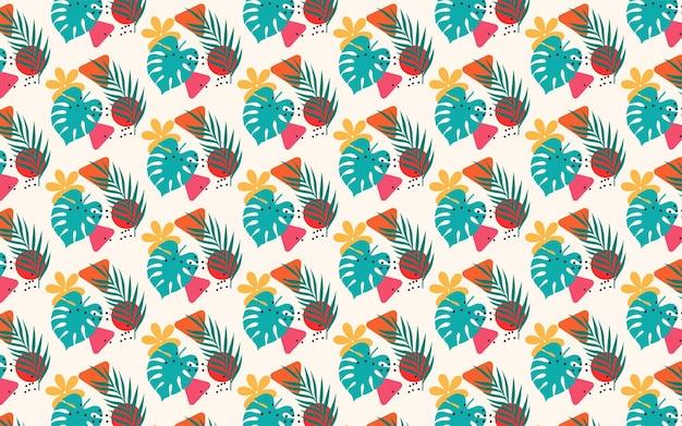 Kleurrijke abstracte tropische achtergrond