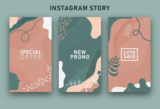 Kleurrijke abstracte verkoop instagramverhalen