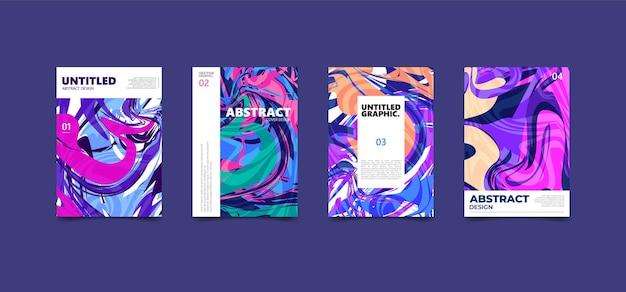 Kleurrijke abstracte vloeibare textuur. moderne omslagaffiche