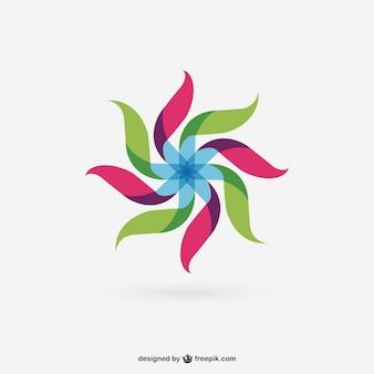 Kleurrijke abstracte windmolen