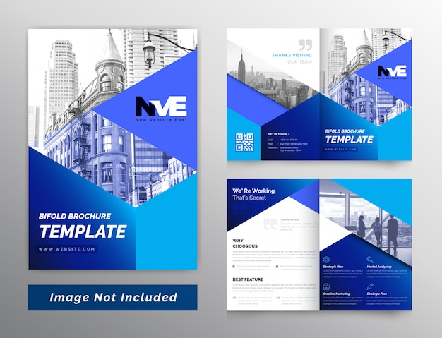 Kleurrijke abstracte zakelijke tweevoudige brochure