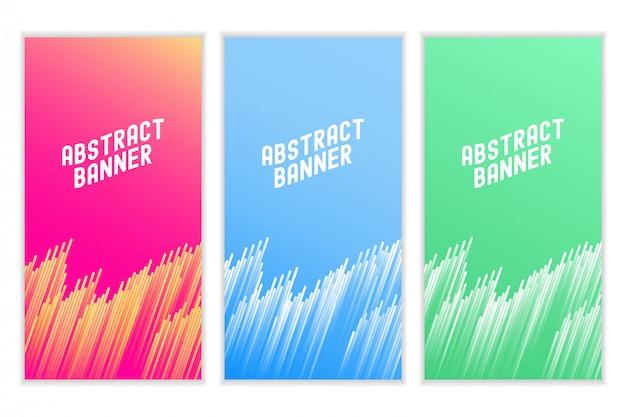 Kleurrijke abtract lijnbanner