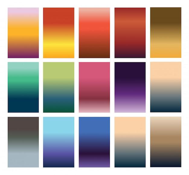 Kleurrijke achtergrond instellen
