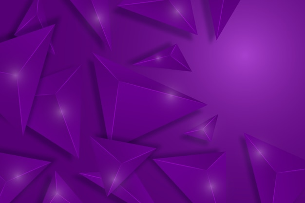 Kleurrijke achtergrond met 3d driehoeken