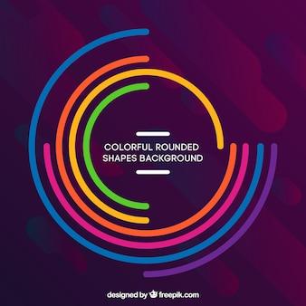 Kleurrijke achtergrond met afgeronde vormen