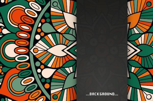 Kleurrijke achtergrond met etnische elementen