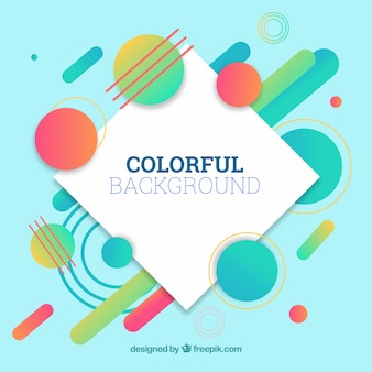 Kleurrijke achtergrond met geometrische vormen