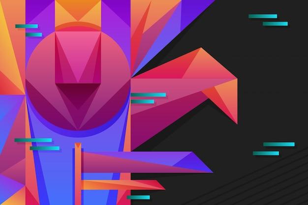 Kleurrijke achtergrond met geometrische vormen Gratis Vector