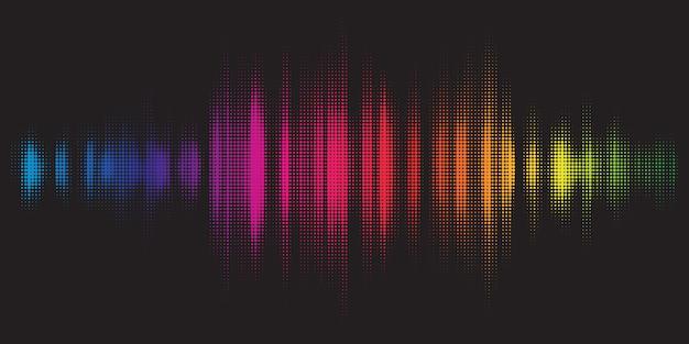 Kleurrijke achtergrond met grafisch equalizerontwerp