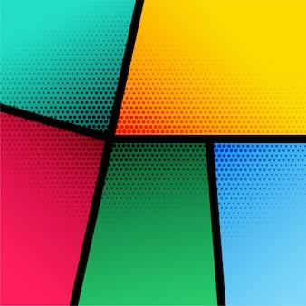 Kleurrijke achtergrond met halftoon effect