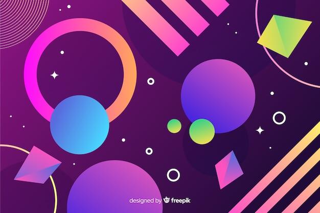 Kleurrijke achtergrond met kleurovergang geometrische modellen