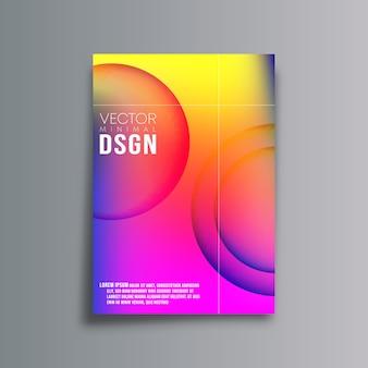 Kleurrijke achtergrond met kleurovergangsmalplaatje