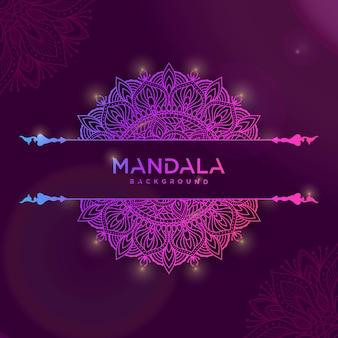 Kleurrijke achtergrond met mandala