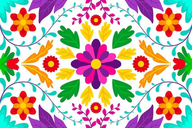 Kleurrijke achtergrond met mexicaans ontwerp