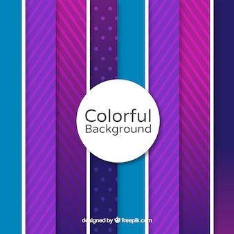 Kleurrijke achtergrond met paarse lijnen
