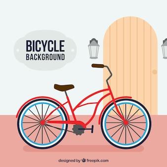 Kleurrijke achtergrond met retro fiets