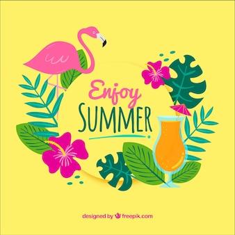 Kleurrijke achtergrond met zomer elementen