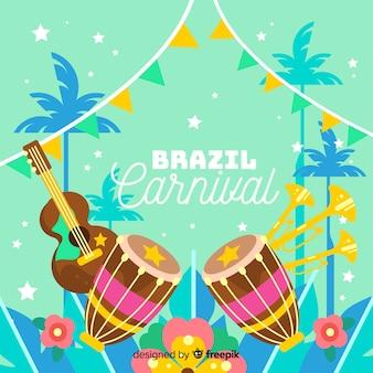 Kleurrijke achtergrond van brazilië-carnaval