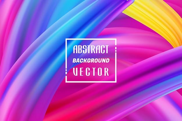 Kleurrijke achtergronden abstracte vector, gradiënt vloeibare achtergrondontwerpen