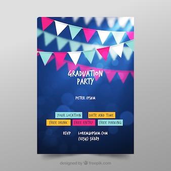 Kleurrijke afstuderen poster