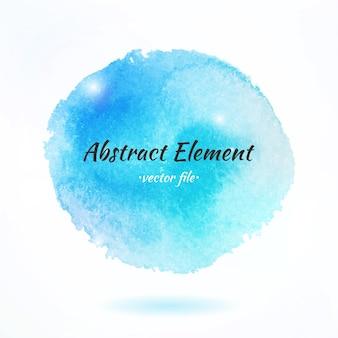 Kleurrijke aquarel abstract vectorelement. geïsoleerde vector aquarel hand getrokken verf ontwerpelement. kleurrijke achtergrond voor bedrijfsontwerp. advertentie en presentatie achtergrond.