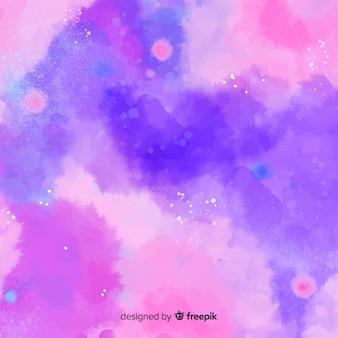 Kleurrijke aquarel achtergrond met vlekken