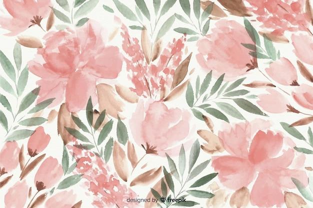 Kleurrijke aquarel bloemenachtergrond